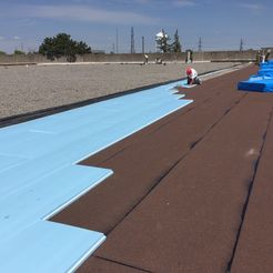 Commercial roofing project